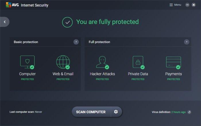 AVG Internet Security 2019 Khóa miễn phí