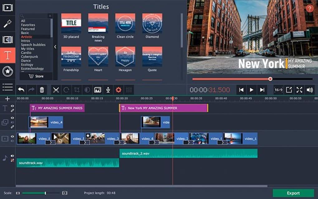 Movavi Video Editor - Tải về