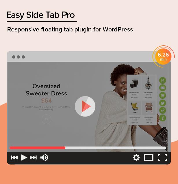 Easy Side Tab Pro - Plugin nổi đáp ứng cho WordPress - 1