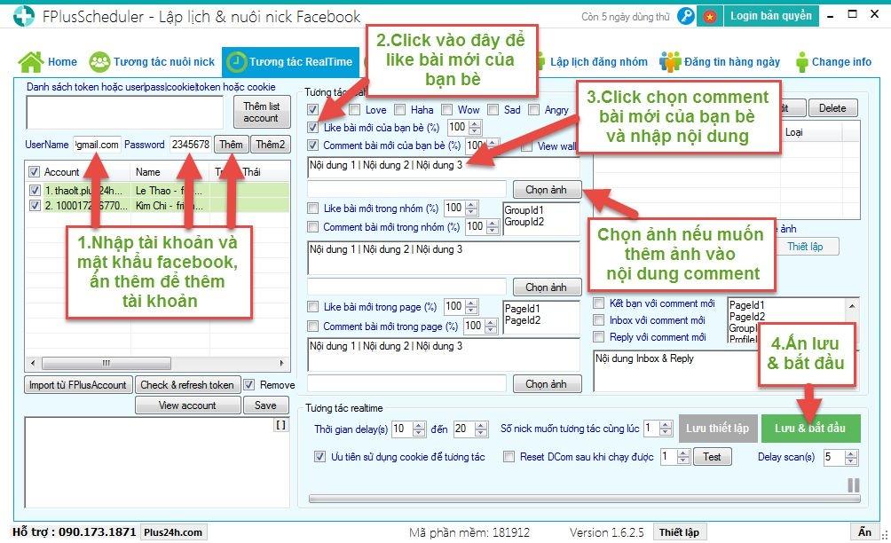 Phần mềm Plus24h hỗ trợ Marketing đa kênh Facebook, Zalo, Instagram tốt nhất hiện nay 3