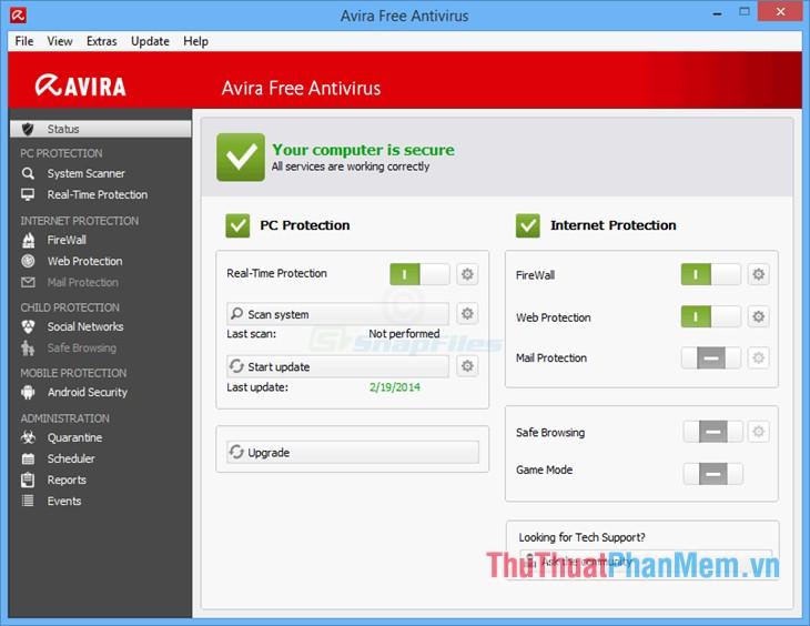 Phần mềm Avira Free Antivirus