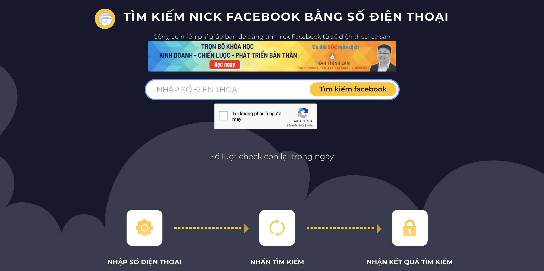 Tìm facebook bắng số điện thoại