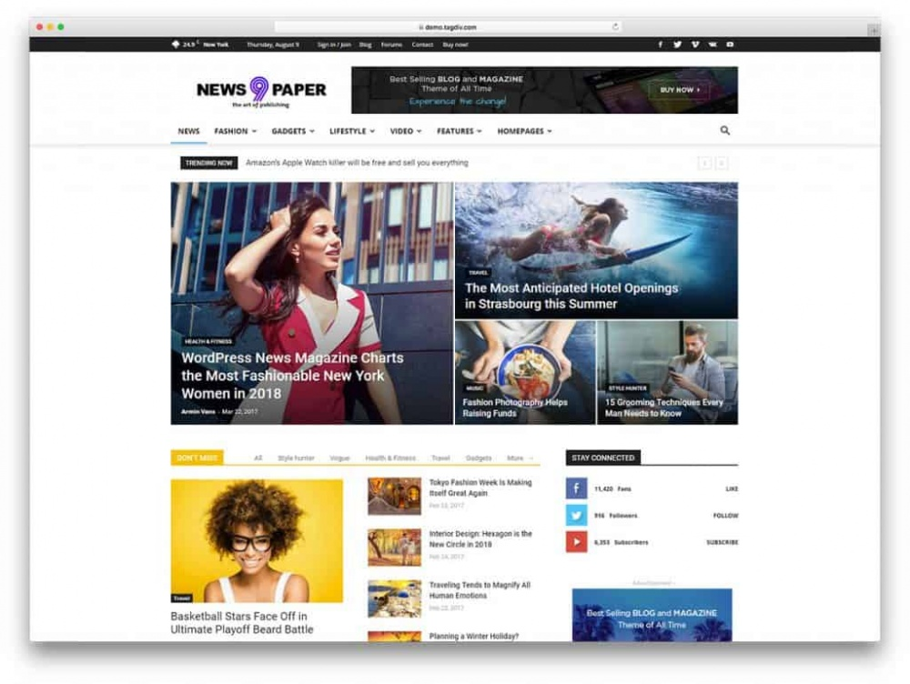 20+ Theme tin tức wordpress tin tức chuẩn SEO (cập nhật 2020) 1