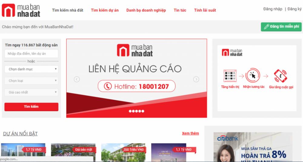 20 trang web bất động sản uy tín, chuyên nghiệp của Việt Nam
