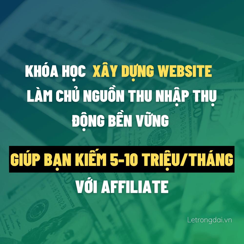 Khóa Hoc Kiếm Tiền Website