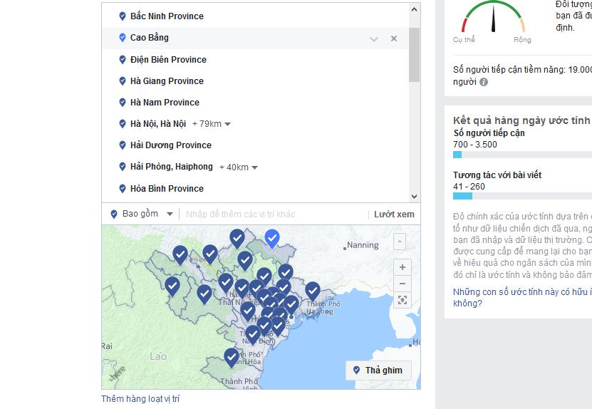 Quảng cáo Facebook: Cách Target theo vùng miền cực chuẩn xác