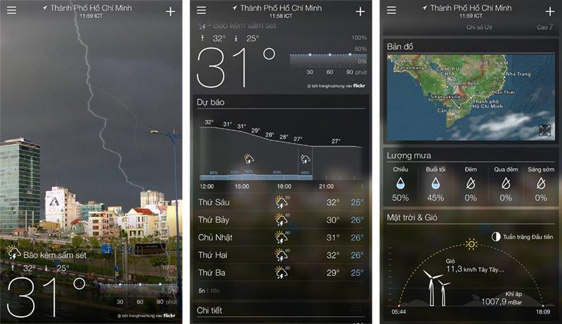 [Tổng hợp] 15+ phần mềm dự báo thời tiết tốt cho thiết bị Android và iOS 2