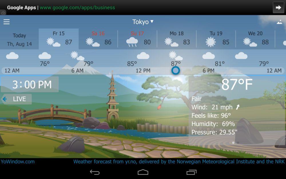[Tổng hợp] 15+ phần mềm dự báo thời tiết tốt cho thiết bị Android và iOS 4