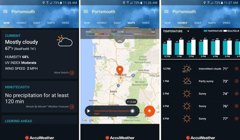 [Tổng hợp] 15+ phần mềm dự báo thời tiết tốt cho thiết bị Android và iOS 7