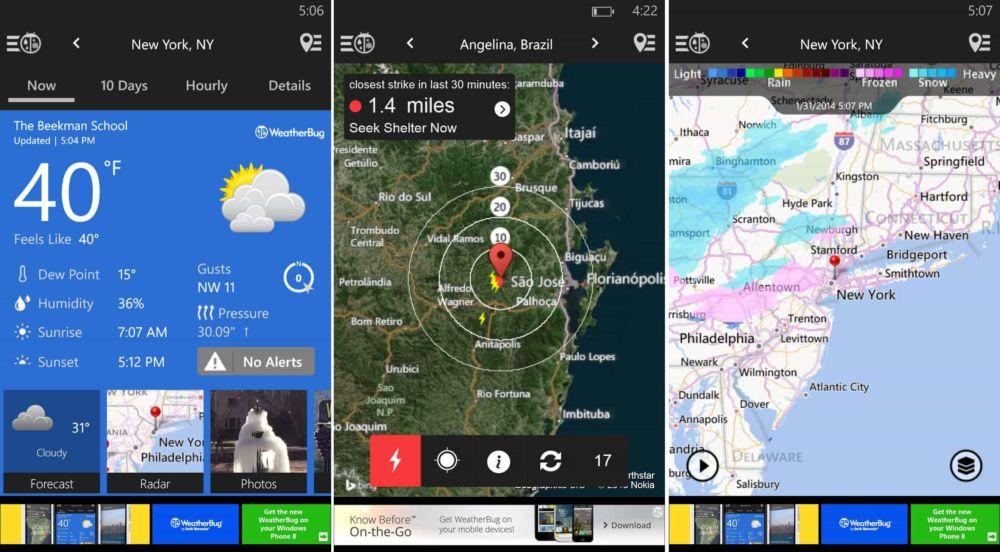 [Tổng hợp] 15+ phần mềm dự báo thời tiết tốt cho thiết bị Android và iOS 11