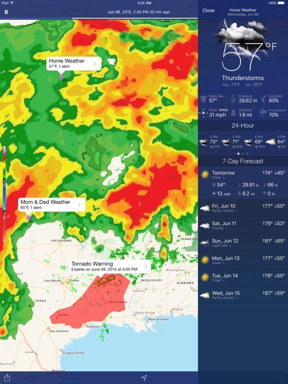 [Tổng hợp] 15+ phần mềm dự báo thời tiết tốt cho thiết bị Android và iOS 1