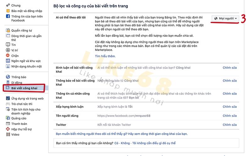 cách chuyển bạn bè thành người theo dõi trên facebook