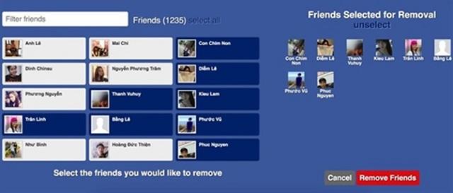cách lọc bạn bè trên facebook bằng máy tính