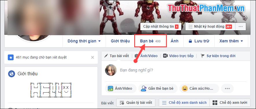 cách xóa bạn bè trên facebook nhanh