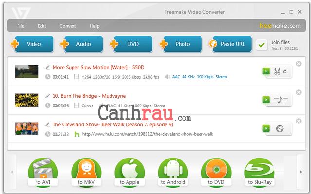 phần mềm convert video tốt nhất