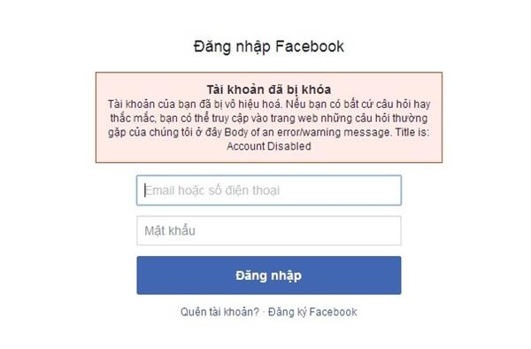 tài khoản facebook bị khóa tạm thời trong bao lâu