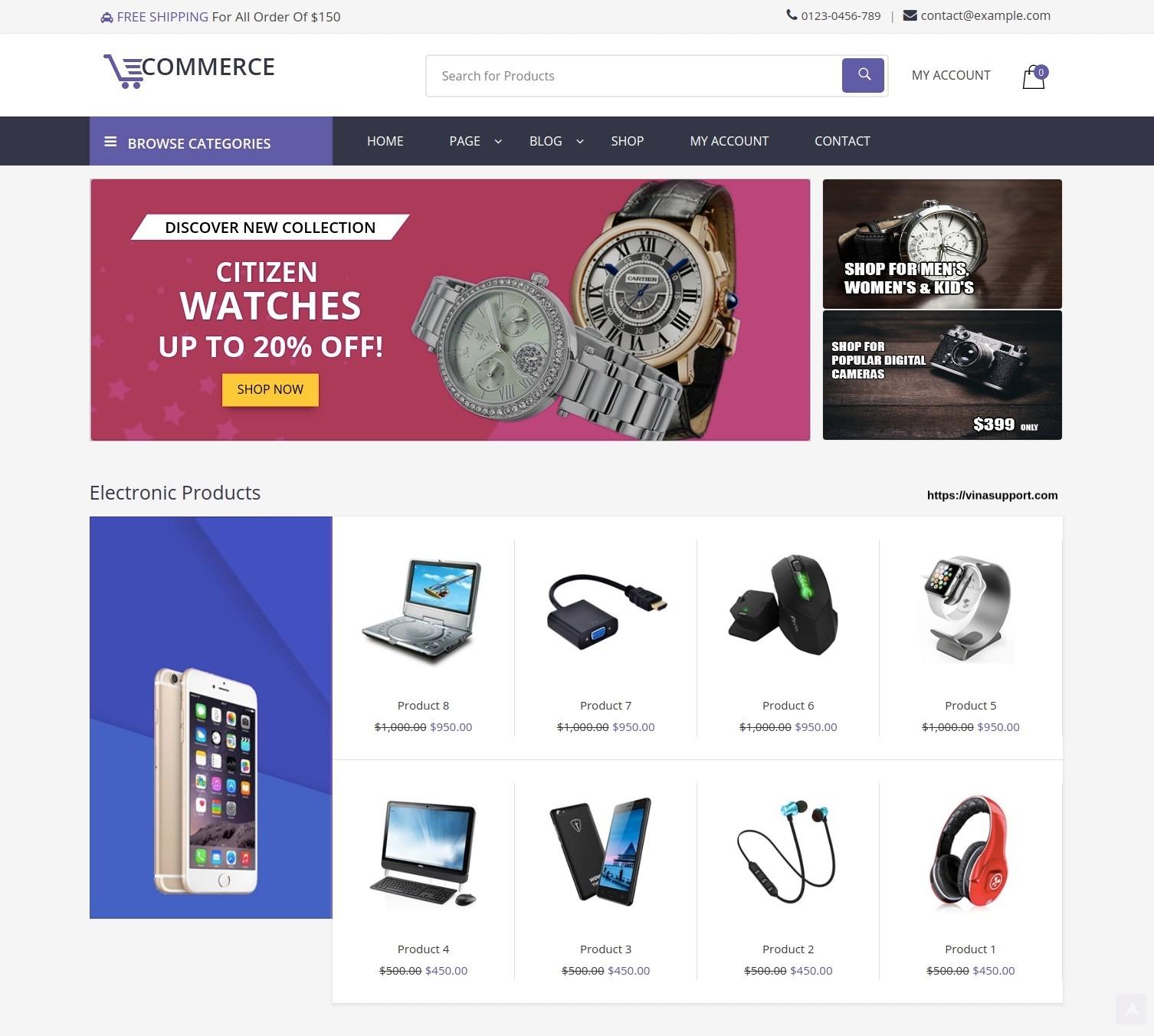 theme bán hàng wordpress woocommerce