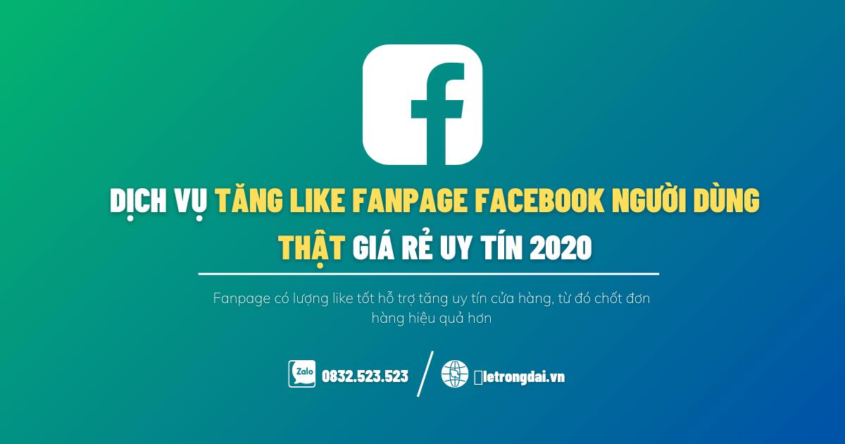 Dịch Vụ Tăng Like Fanpage Facebook Người Dùn Thật Giá Rẻ Uy Tín 2020