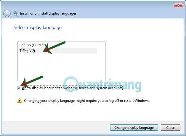 cách chuyển ngôn ngữ máy tính sang tiếng việt win 7
