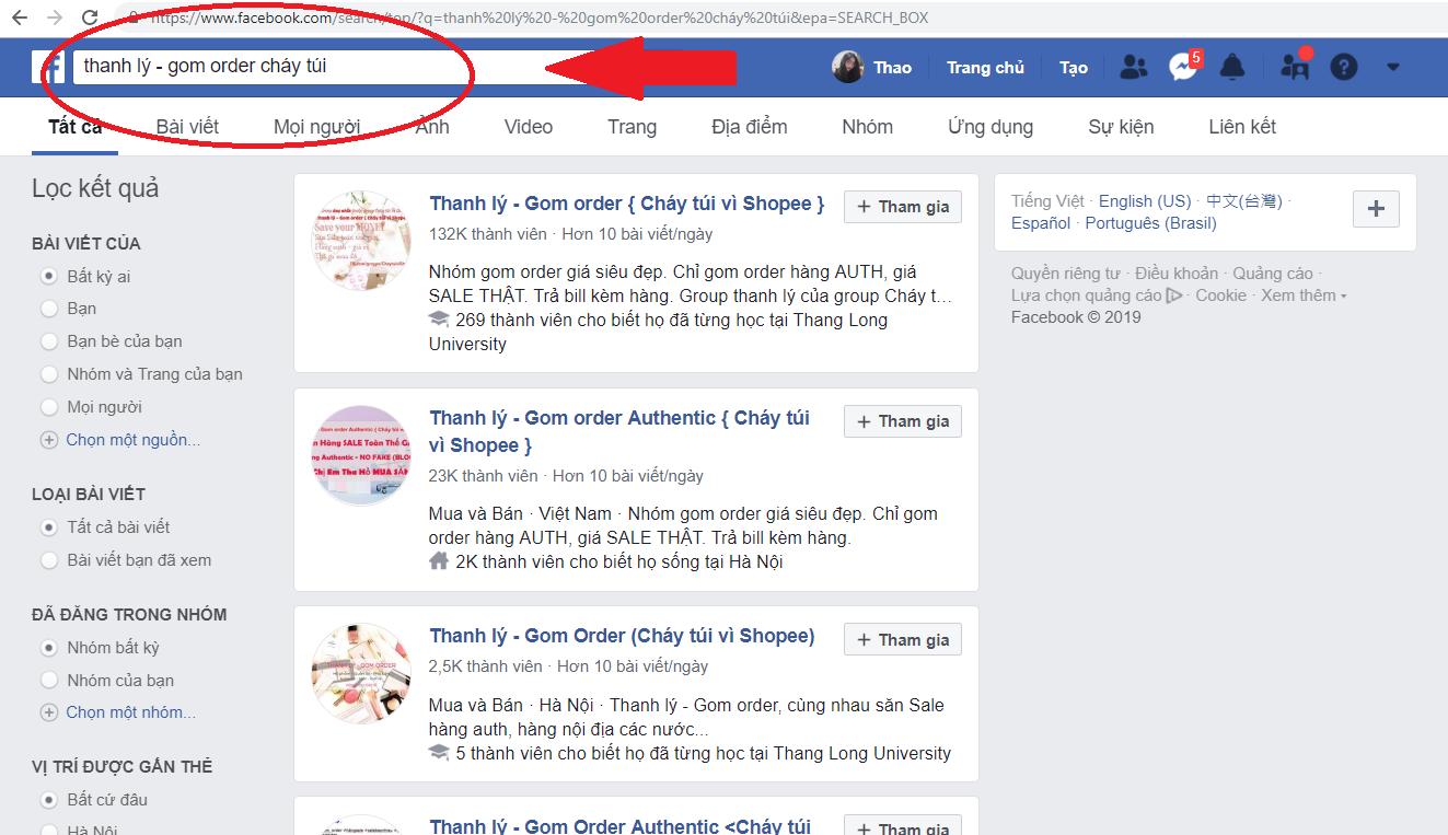 cách tham gia nhóm trên facebook
