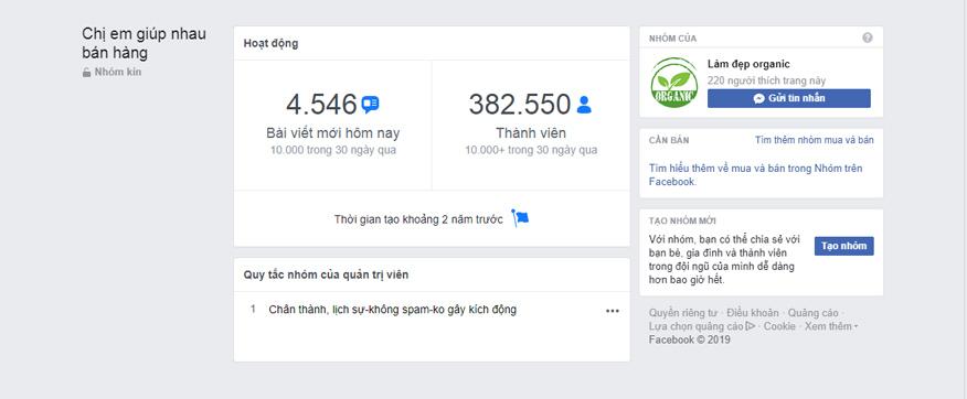 những group bán hàng hiệu quả trên facebook