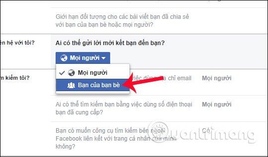 không thấy nút kết bạn trên facebook