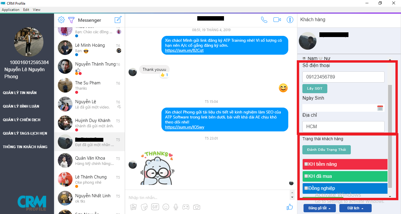 tự trả lời tin nhắn facebook cá nhân