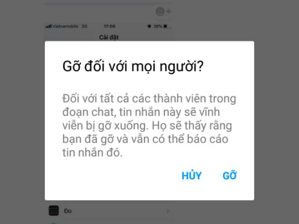 xóa tin nhắn gửi nhầm trên facebook