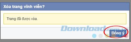 xóa trang trong facebook