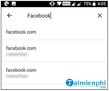 xem mật khẩu facebook trên điện thoại android