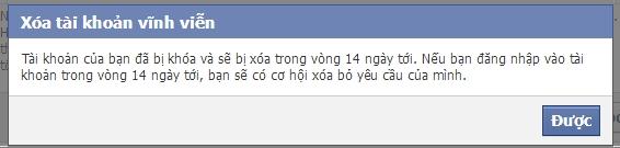 xóa tài khoản facebook khi quên mật khẩu