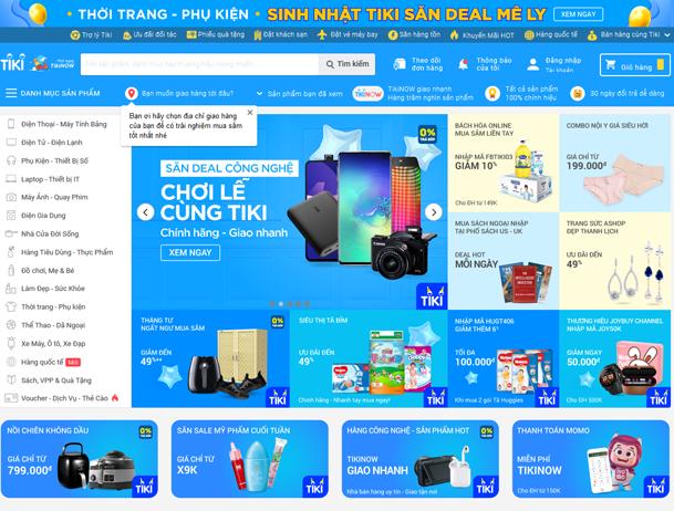 các trang bán hàng online