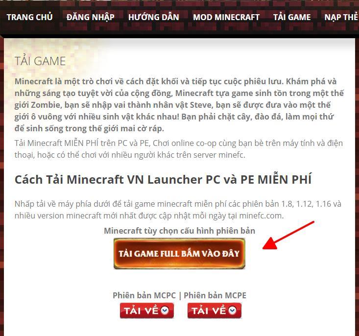 Cach Tai Minecraft Tren May Tinh 3