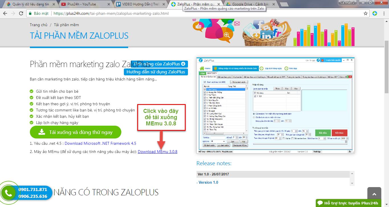 Hướng dẫn cài đặt phần mềm ZaloPlus