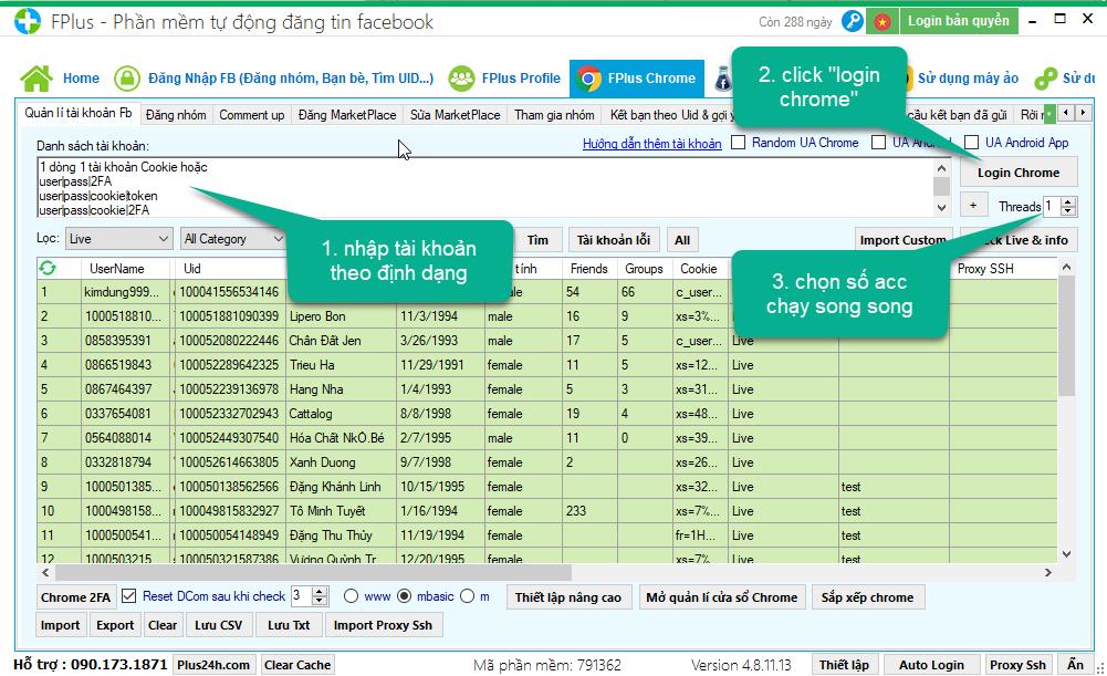 seeding bài đăng MarketPlace