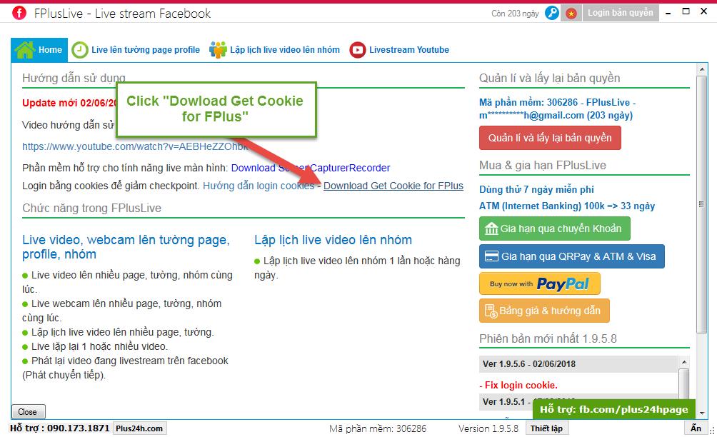 đăng nhập bằng Cookie vào FPlusLive