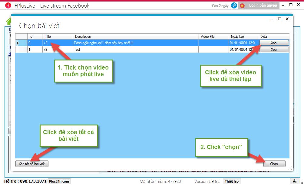 Phát livestream từ video (mp4) lên nhiều tường, page, nhóm facebook