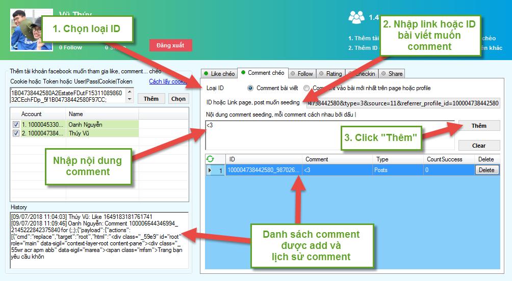 Hướng dẫn sử dụng LikePlus tăng comment, like, rating, share, follow chi tiết A-Z