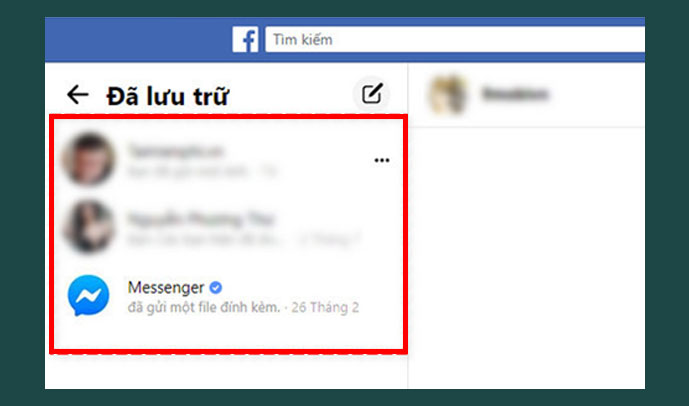 Lấy lại tin nhắn đã xóa trên messenger từ Messenger.com