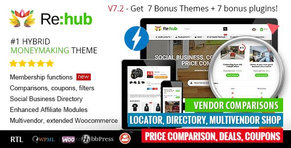 Download Active Ban Quyen Rehub Price Comparison Multi Vendor Marketplace Affiliate Marketing Community Theme 1