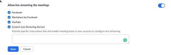 Enable Live Stream Meeting 1 1