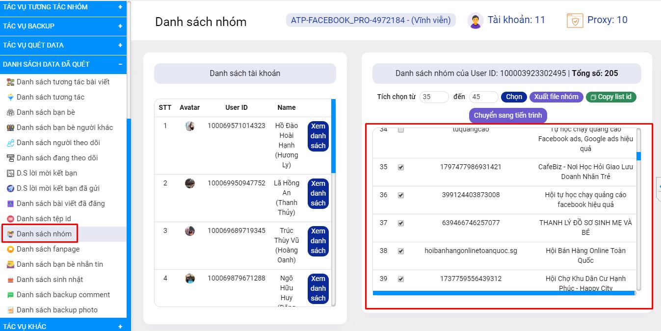 Simple Facebook Pro - Phần mềm hỗ trợ kết bạn khách hàng tiềm năng, nuôi nick Facebook, xây dựng trang cá nhân bán hàng trên Facebook 44