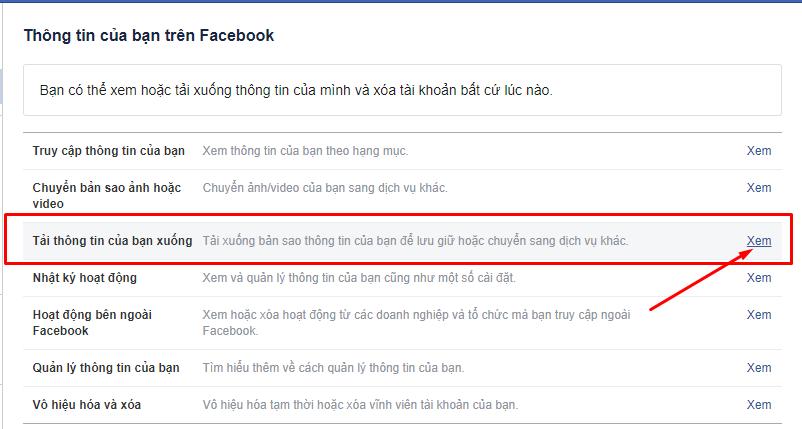 Cách lấy lại tin nhắn đã xóa trên Facebook thành công 2021 4