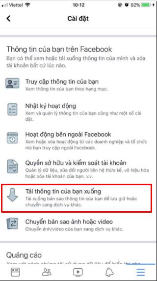 Cách lấy lại tin nhắn đã xóa trên Facebook thành công 2021 12