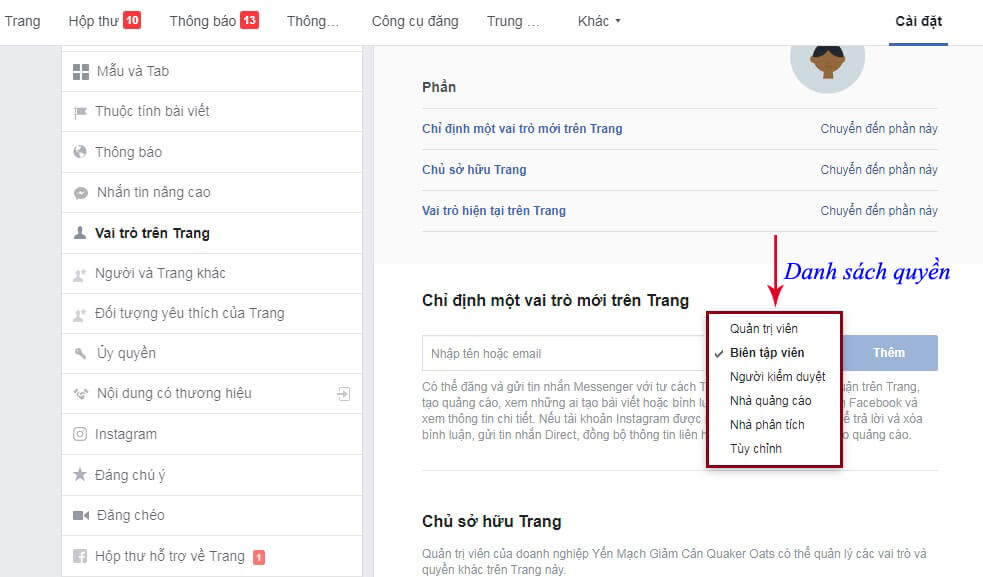 Thay Doi Chu So Huu Trang Fanpage