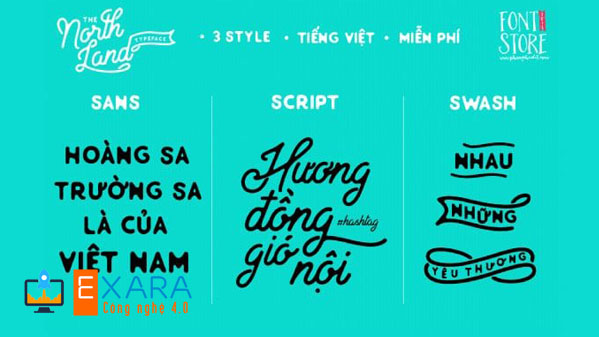 Font Việt hóa North Land