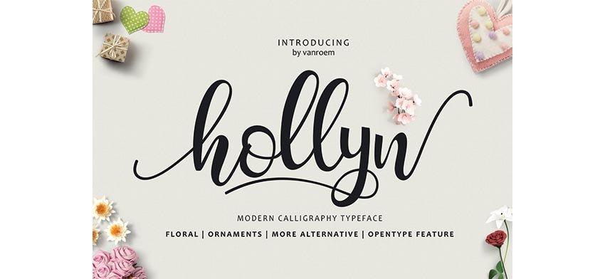 Hollyn Script Extras Font