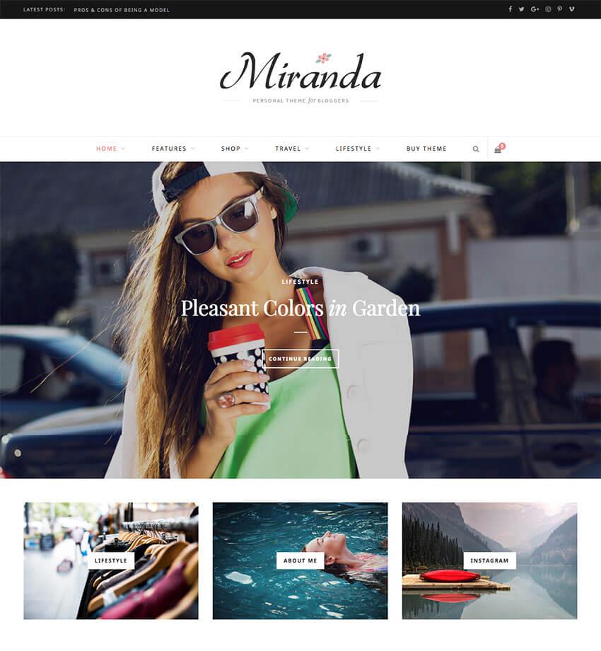 CheerUp Modern Personal WordPress Blog Template
