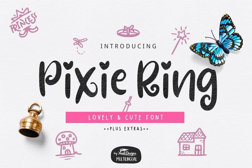 Pixie Ring Font