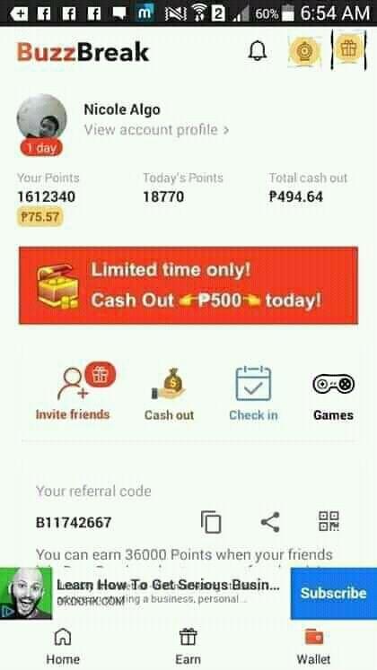 App chơi game kiếm tiền BuzzBreak